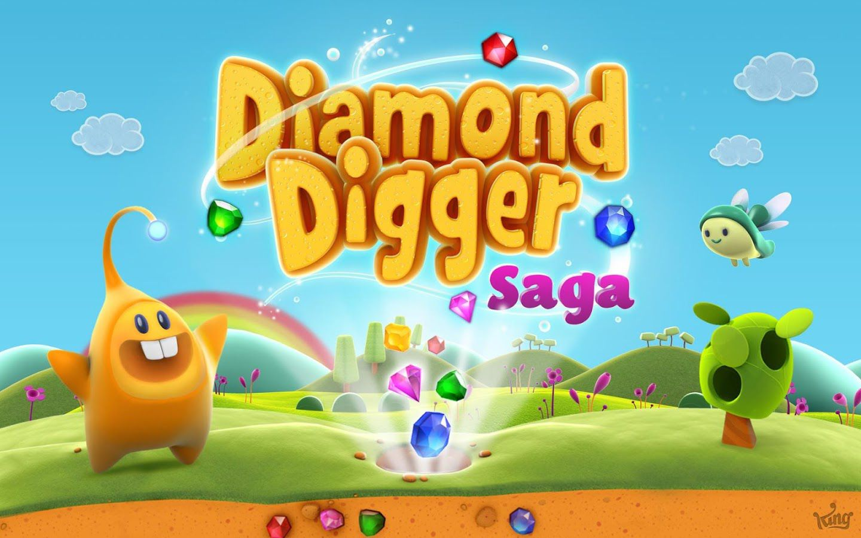 King te reta en su nuevo juego Diamond Digger Saga para Android