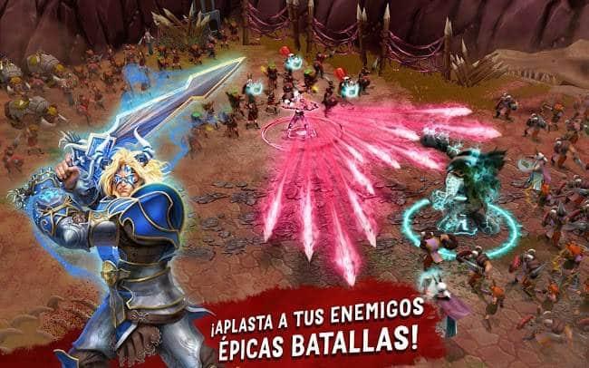 Crea tu propio ejercito de héroes en Battle of Heroes: Land of Immortals