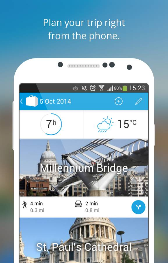 Planifica tus viajes con Tripomatic para Android