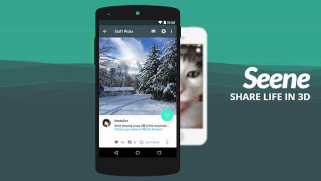 Añade efecto 3D a tus fotos con Seene para Android