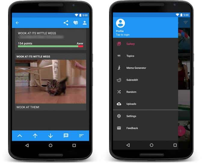 Open Imgur, controla tu cuenta de Imgur desde Android