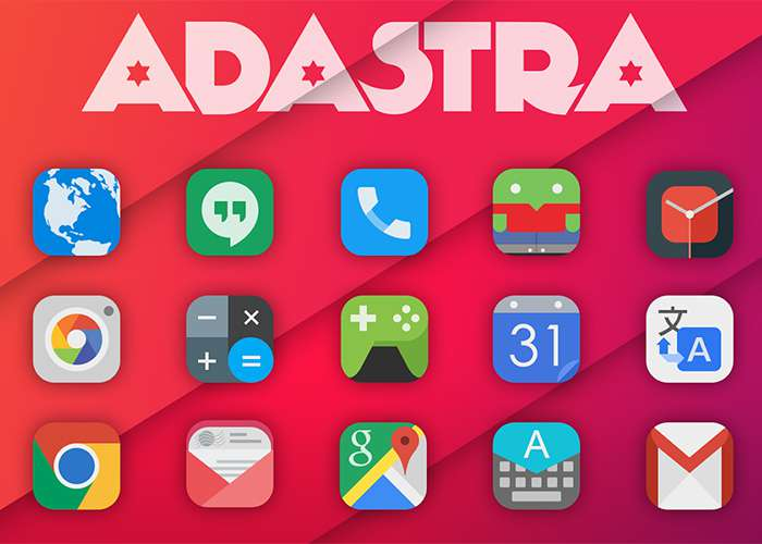 Colección de iconos y fondos de pantalla para Android: Adastra y Premium HD fondos de pantalla