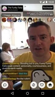 Transmite vídeo en vivo con Meerkat para Android