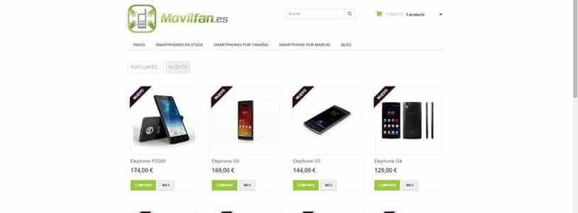 3 páginas para comprar móviles chinos en España
