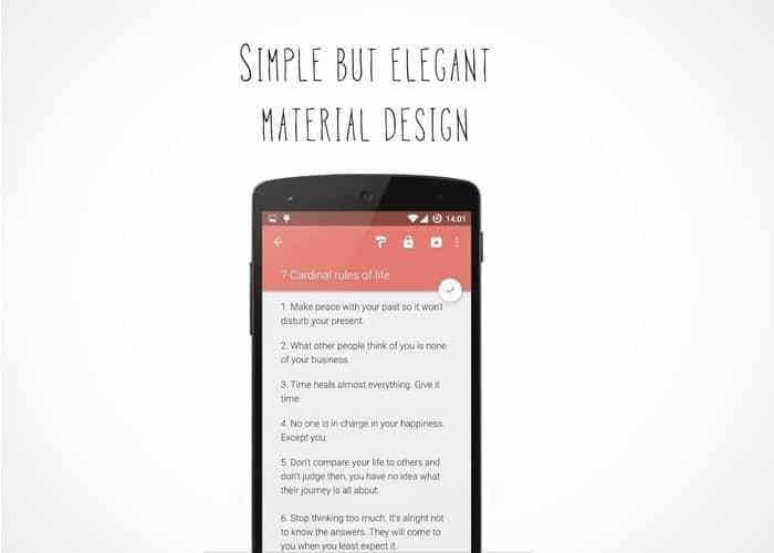 Material Notes, una app para tomar notas
