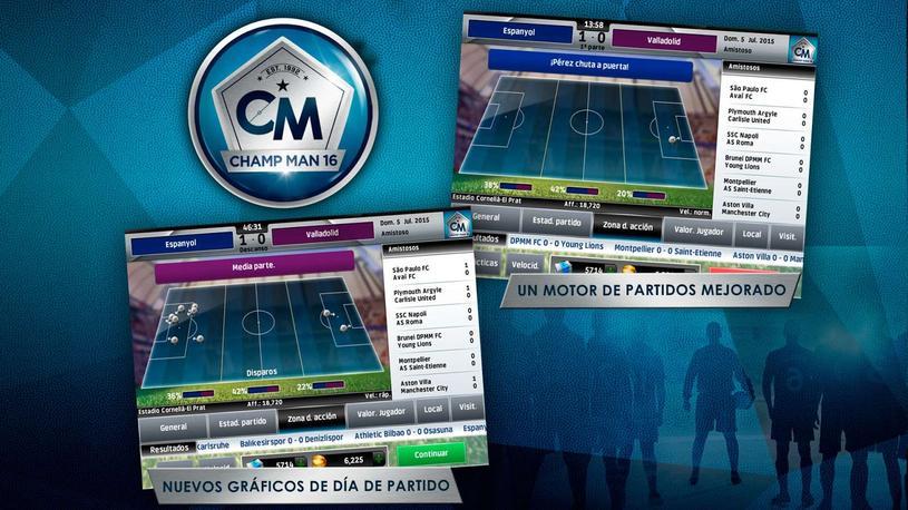 Champ Man 16, gestiona tu propio equipo de fútbol en Android