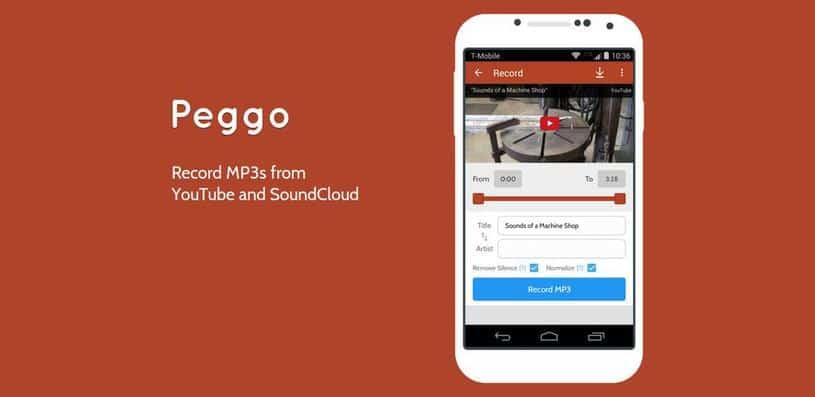 Peggo: guarda y reproduce contenido de Soundcloud y Youtube sin conexión