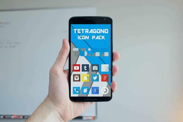 Colección de iconos y fondos de pantalla para Android: Tetragono y Wall Tumblr