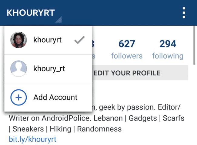 [APK] Instagram: soporte para múltiples cuentas