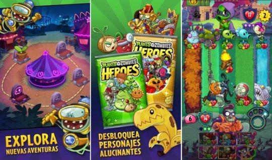 plantas vs zombies heroes