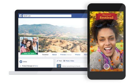 ¡Haz tus propios filtros estilo Snapchat con la app de cámara de Facebook!
