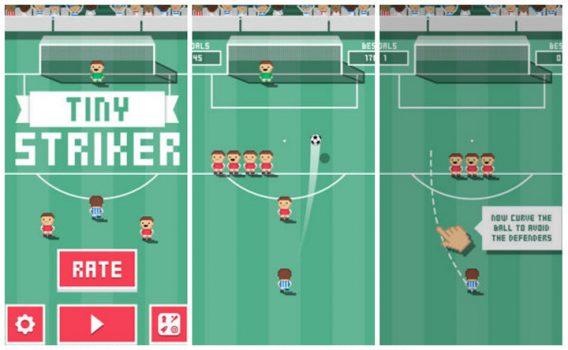 Tiny Striker: fútbol al estilo pixel-art en Android