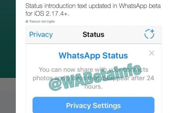 WhatsApp Status, la copia de Instagram Stories que llegará pronto