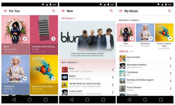 Apple Music para Android con nueva interfaz en su versión 2.0