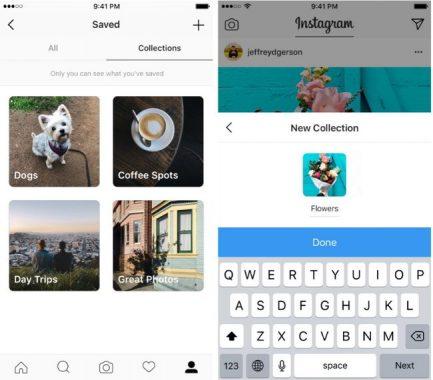 VA POR PINTEREST: Instagram presenta su nueva función Colecciones