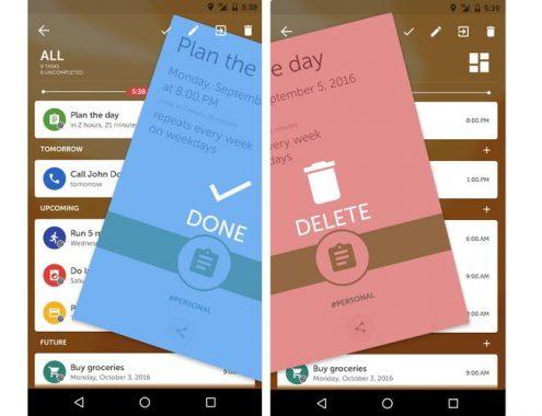 Memorigi: app para programar recordatorios