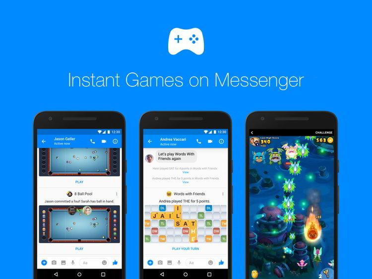 Los Juegos de Facebook Messenger ahora son globales