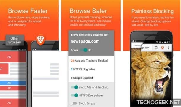 navegadores web para android