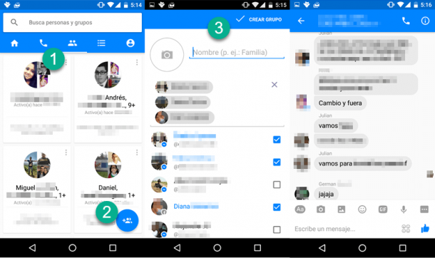 Cómo crear un grupo en Facebook Messenger