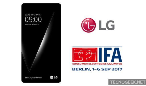 El LG V30 podría ser presentado en el IFA 2017