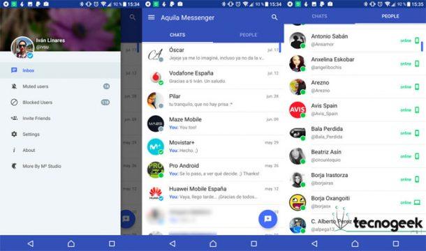 Aquila Messenger: convierte los chats de Twitter como en WhatsApp