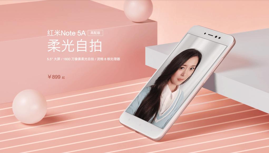 Xiaomi Redmi Note 5A, el móvil de las selfies perfectas por 89 euros