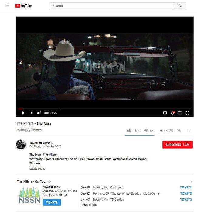 Ya puedes comprar entradas para conciertos en Youtube