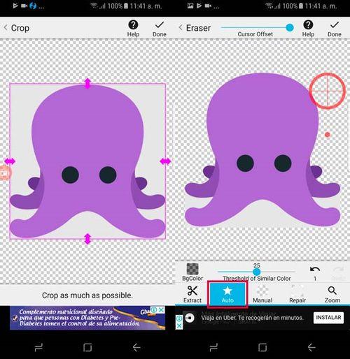 Como eliminar el fondo de una imagen en Android