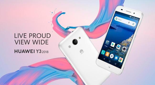 Huawei Y3 2018: primer smartphone de Huawei con Android Go