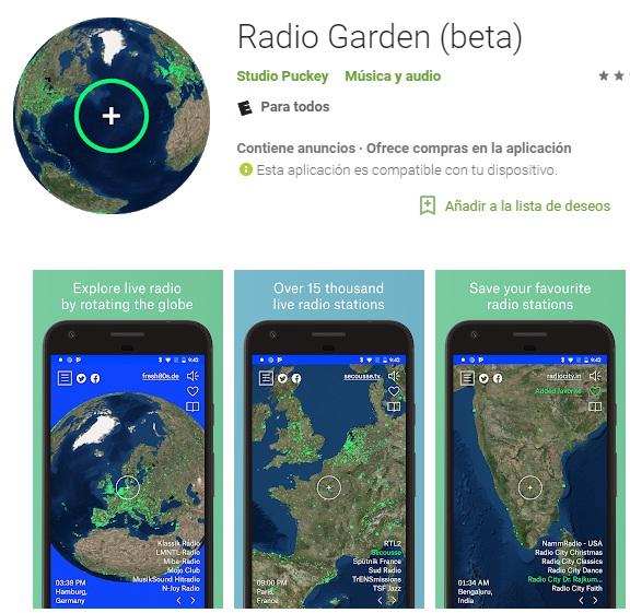 Cómo escuchar radio con Radio Garden