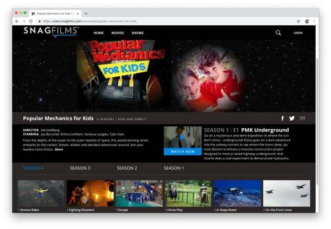 SnagFilms: mirar series, películas y documentales sin pagar nada