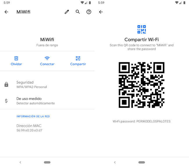 Android Q: las contraseñas de WiFi guardadas serán visibles