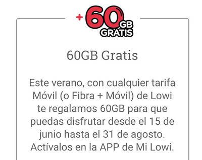 ¿Cómo activar los 60 GB gratis en Lowi para este verano?