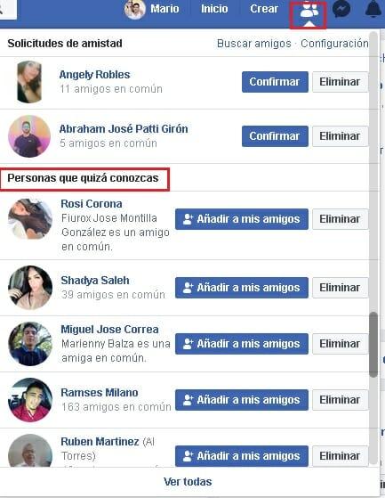 Cómo buscar a una persona en Facebook