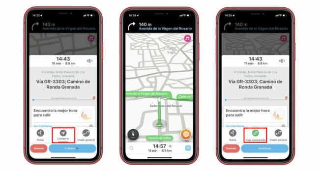 Cómo compartir tu viaje en tiempo real durante tu ruta con Waze