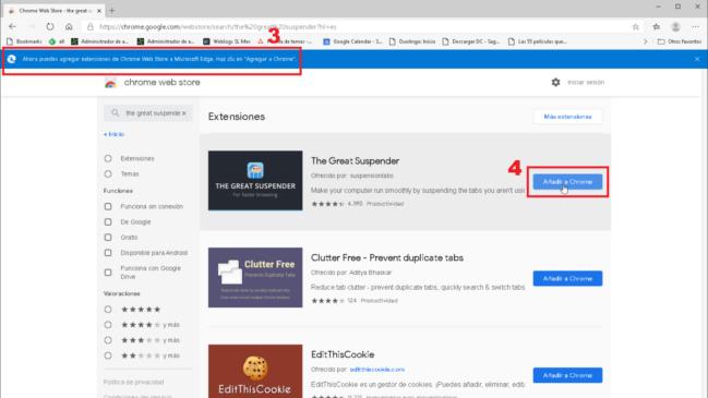 Cómo instalar extensiones de Google Chrome en Microsoft Edge Chromium