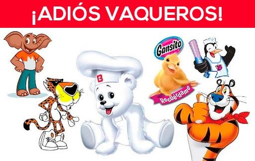 Los personajes de productos chatarras se despiden en México