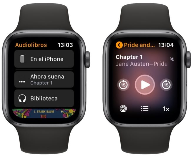 Cómo reproducir audiolibros en el Apple Watch