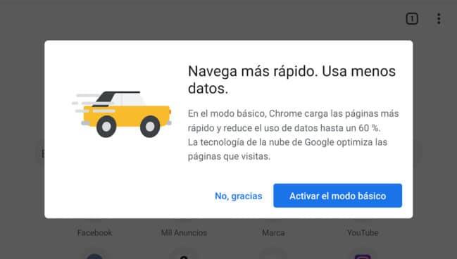 ¿Qué es y como se activa el modo básico de Google Chrome en Android?