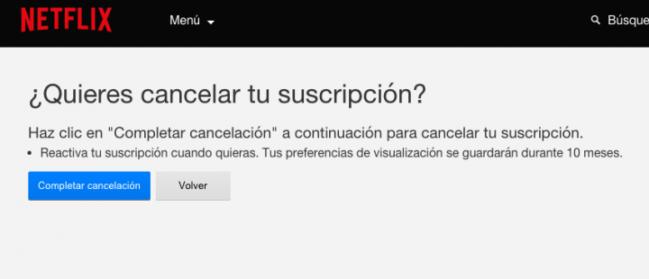 Cómo cancelar tu suscripción a Netflix