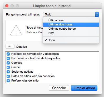 Como borrar el historial de navegación en Firefox muy rápido