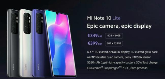 Xiaomi Mi Note 10 Lite: el móvil premium que todos merecemos