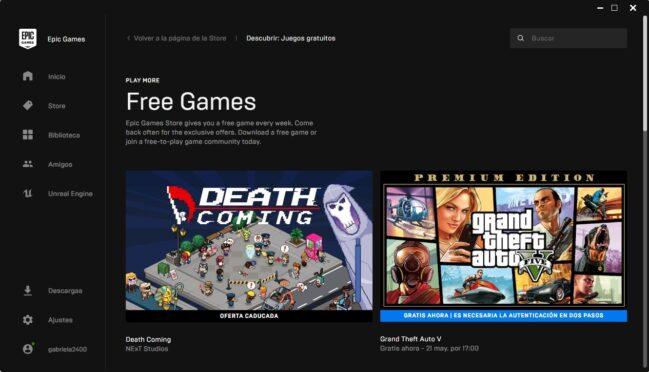 Descarga GTA V gratis para PC desde la Epic Store