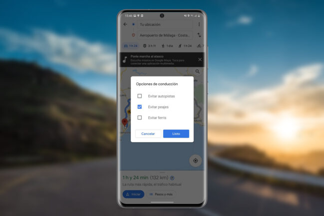 Cómo evitar peajes o casetas de cobro en Google Maps