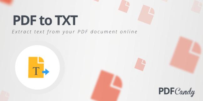 Cómo extraer texto de los archivos PDF con PDF Candy