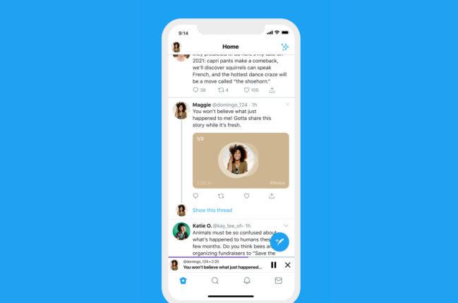 Twitter hace oficial la llegada de los tweets de audio