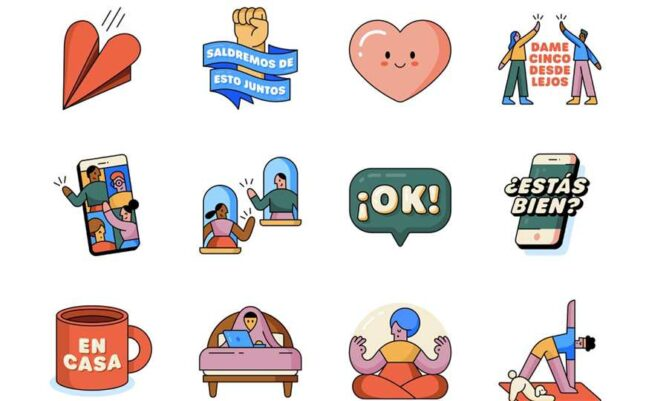 7 packs gratis de stickers para Whatsapp