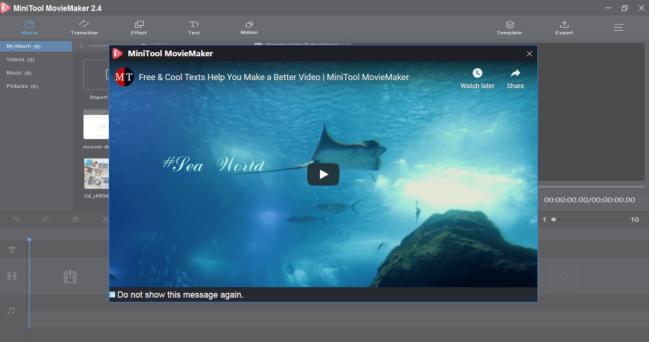 MiniTool MovieMaker: crea videos fácilmente en Windows ¡GRATIS!