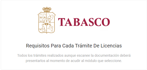 Requisitos para licencia de conducir en Tabasco
