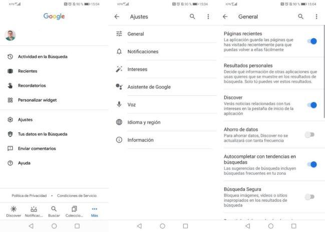👌Cómo activar o desactivar Google Discover en Android